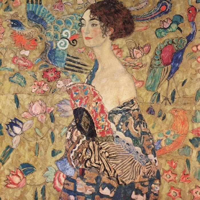 Gustav Klimt Portrait Of Adele Bloch Gold Foil Painting