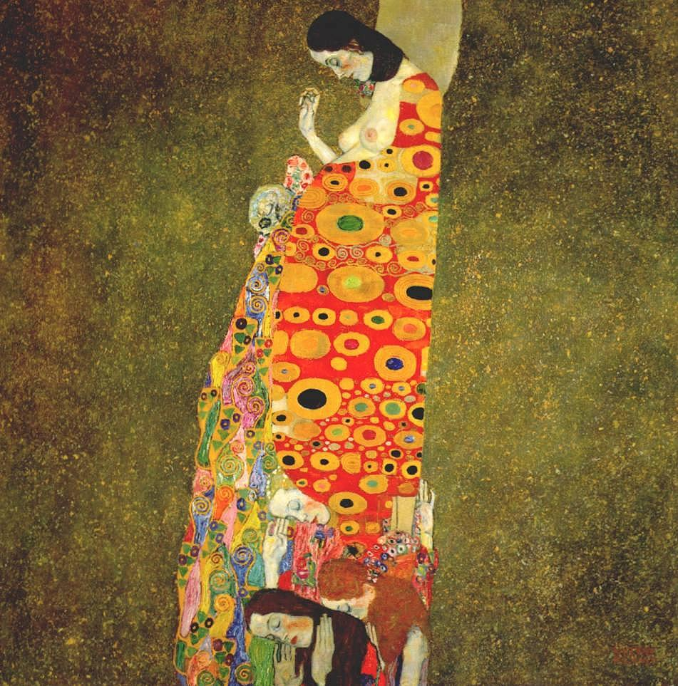 Gustav klimt hope painting framed paintings for sale for Gustav klimt original paintings for sale