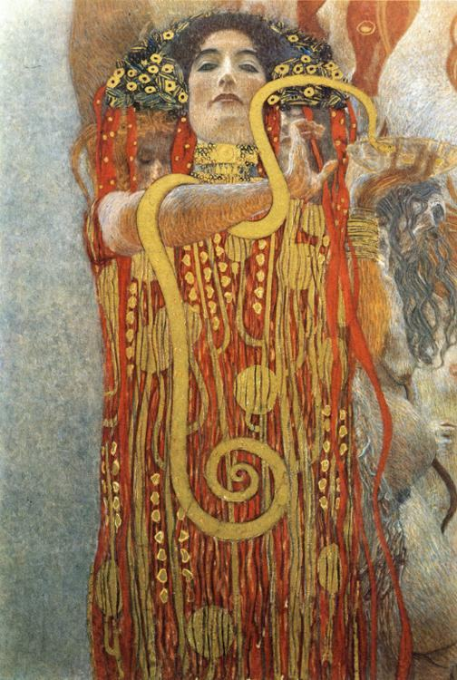 Gustav klimt hygieia ii painting framed paintings for sale for Gustav klimt original paintings for sale