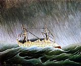 Famous Boat Paintings - The Boat in the Storm