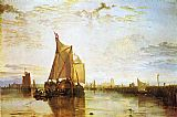 Famous Boat Paintings - Dort the Dort Packet Boat from Rotterdam Bacalmed