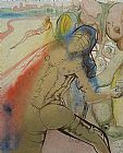 Salvador Dali The Death of Clorinda painting