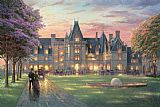Elegant Canvas Paintings - Elegant Evening at Biltmore