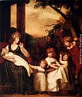 George Romney - Portrait Of Charlotte Bosanquet With Her Five Elder Children