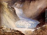 Pass Canvas Paintings - Glacier Du Rhone And The Garlingstock, Pass Of The Furca, Switzerland