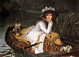 Famous Boat Paintings - Young Lady in a Boat