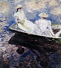 Famous Boat Paintings - Girls In A Boat