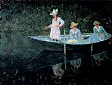 Famous Boat Paintings - In The Rowing Boat